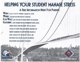 Parent Night- Managing Student Stress