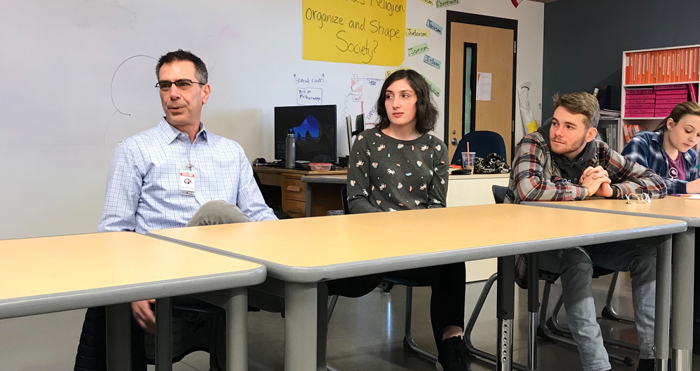 Media Communications class at CPHS welcomes Union Bulletin Publisher