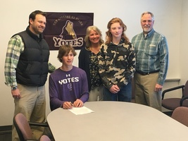 Silas Shumate signs with College of Idaho to play baseball!