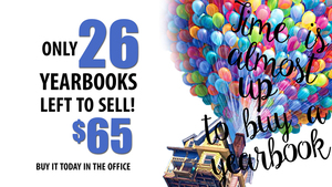 ONLY 26 YEARBOOKS LEFT TO SELL!