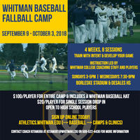 Whitman Fall Baseball Camp