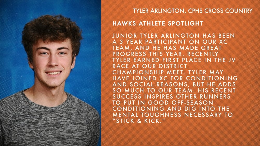 Hawks Athlete Spotlight - XC