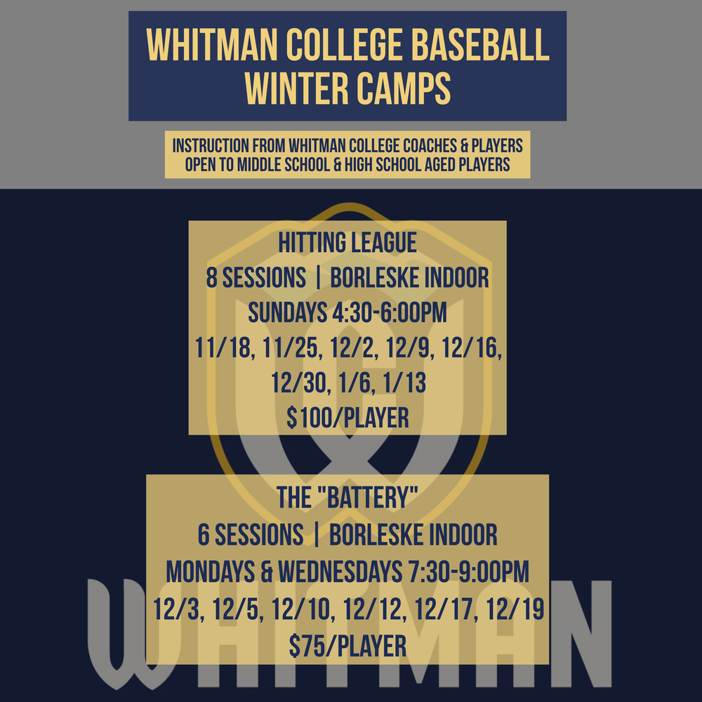 Whitman College Baseball Winter Camps