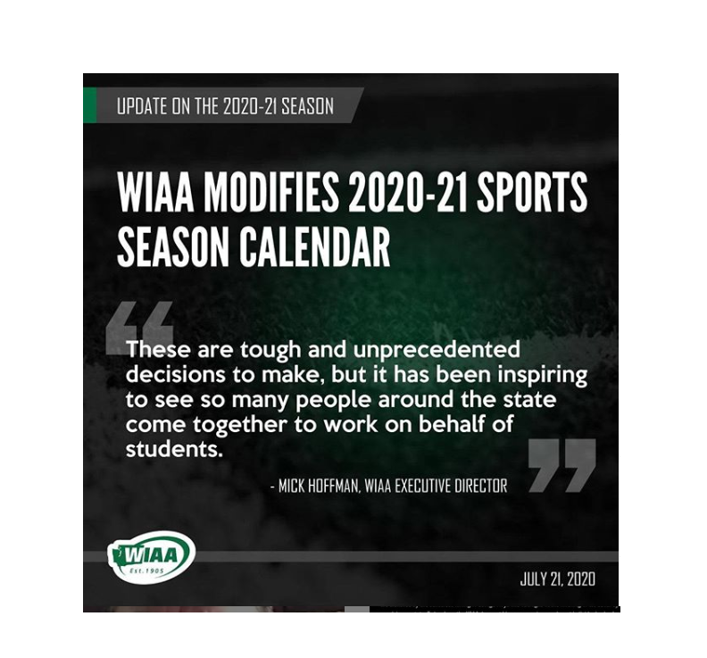 CPPS Athletics Update- WIAA Releases Modified Seasons Information July 22, 2020