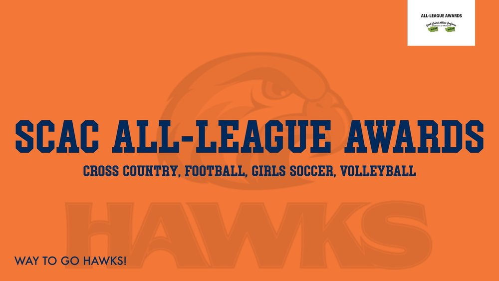 Hawks Represent with SCAC Fall All-League Awards!