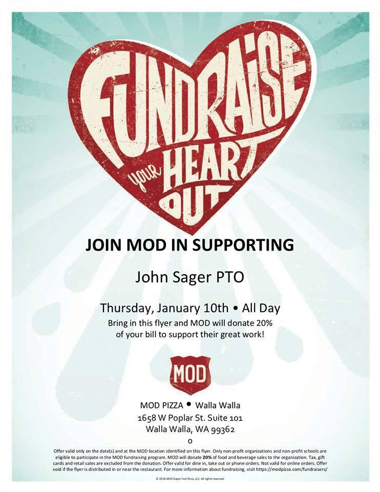 Sager PTO Fundraiser @ Mod Pizza