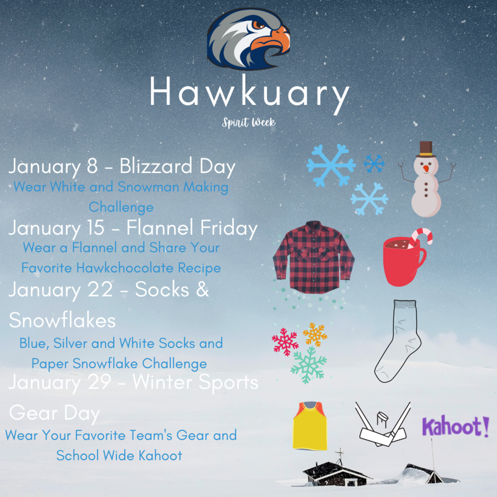 Hawkuary - ASB Spirit Days for January