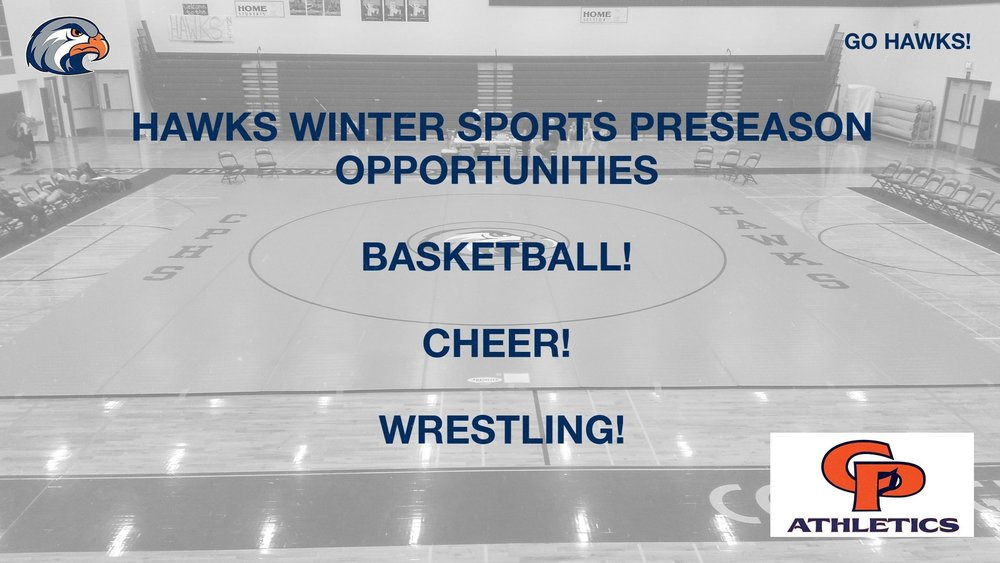 Hawks Winter Sports Preseason Opportunities