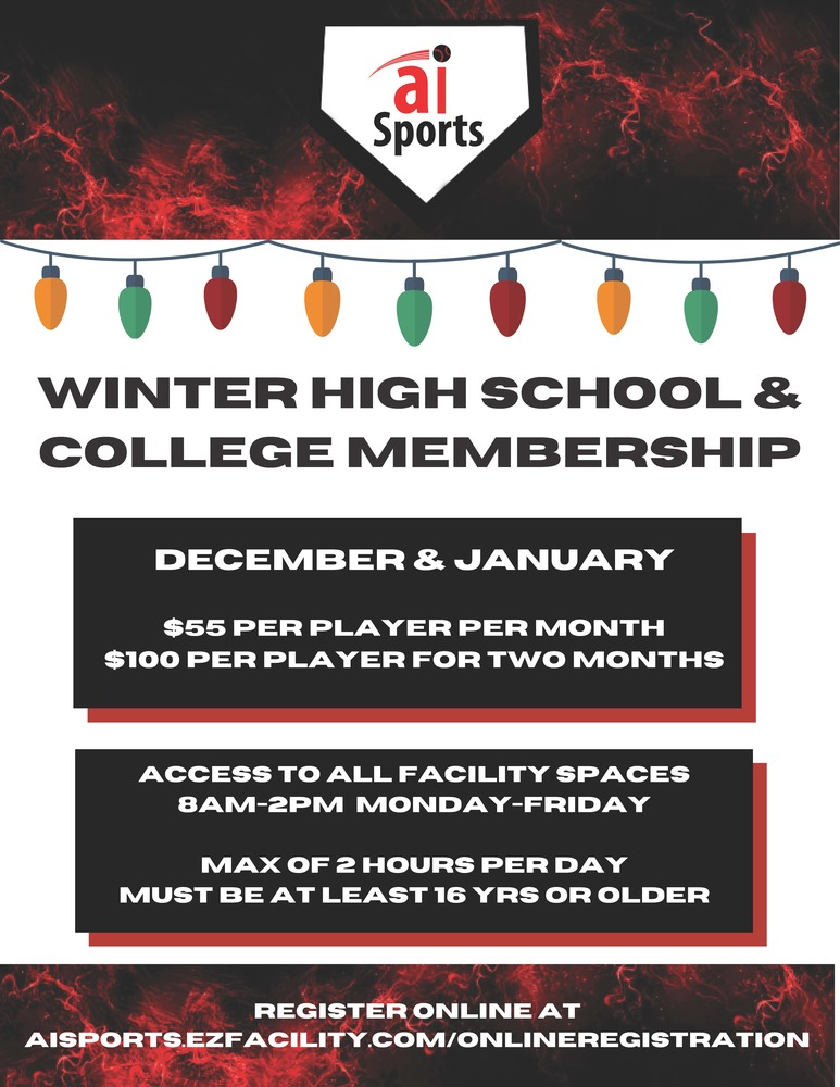 AI Sports Offer for Baseball and Softball Players!