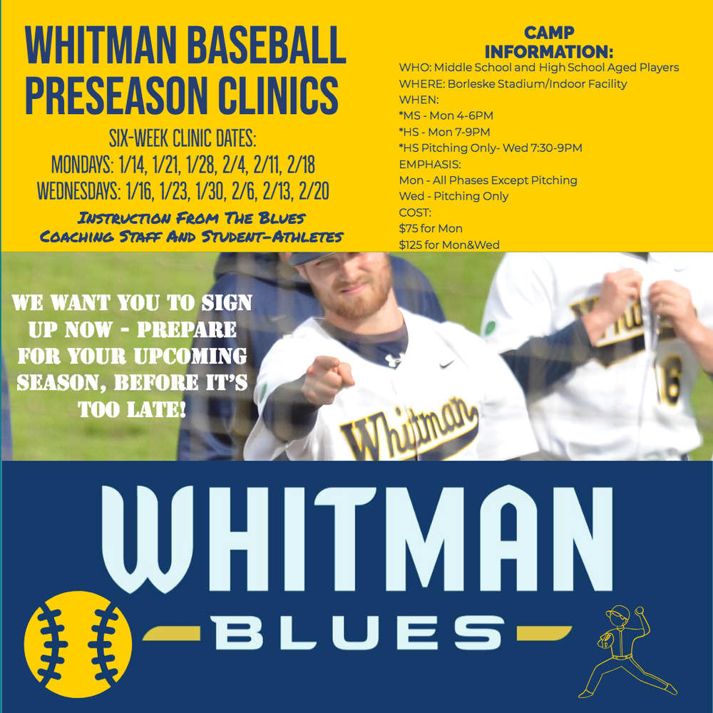 Whitman College Pre-Season Baseball Camps