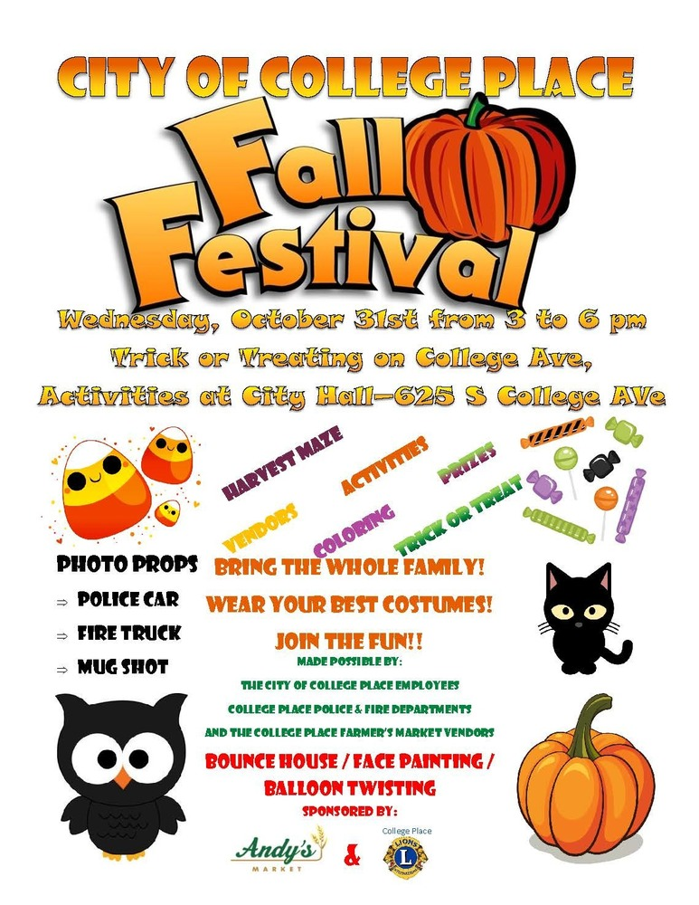 City of College Place Fall Festival