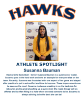 Hawks Athlete Spotlight- Girls Basketball