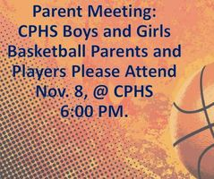 Nov. 8 Basketball Parent/Player Preseason Meeting