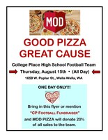 HAWKS FOOTBALL MOD PIZZA FUNDRAISER TODAY!