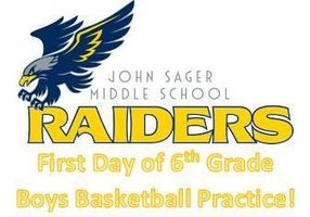 First Day of Sager 6th Grade Boys Basketball Practice