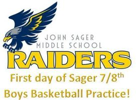 Sager First Day Boys 7/8th Boys Basketball Practice
