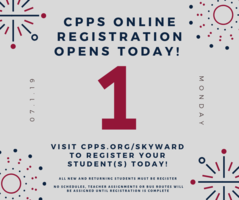 Online Registration 2019-2020 School Year