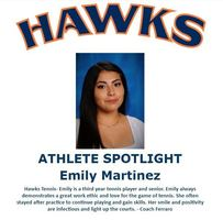 Hawks Athlete Spotlight - Tennis