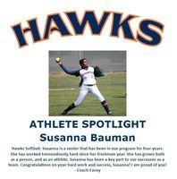 Hawks Athlete Spotlight- Softball