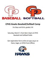 Sign up now for CPHS Baseball/Softball Camp!