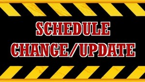 VOLLEYBALL SCHEDULE CHANGE 9/4/18