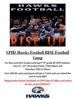 CPHS Hawks Football Camp
