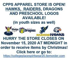 CPPS Apparel Store is Open!