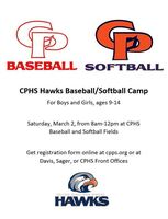 *Registration Closed* Hawks Baseball/Softball Camp