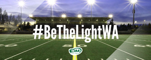 TONIGHT! #BeTheLightWA - Senior Stadium Lights