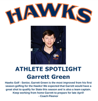 Hawks Athlete Spotlight - Golf