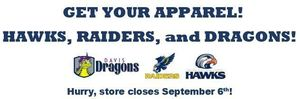 APPAREL AVAILABLE- OPEN NOW! DAVIS, SAGER, and CPHS GEAR!
