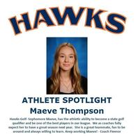 Hawks Athlete Spotlight- Golf