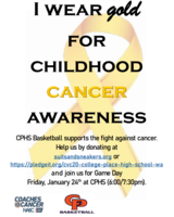 CPHS Basketball- Coaches v. Cancer Game Jan. 24 and TACO NIGHT!