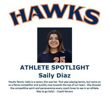 Hawks Athlete Spotlight- Tennis