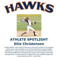 Hawks Athlete Spotlight - Softball