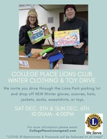 CP Lions Club Clothing and Toy Drive