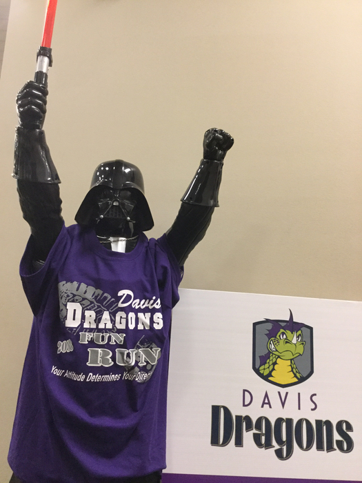 Darth Vader is excited about the #2018DavisFunRun