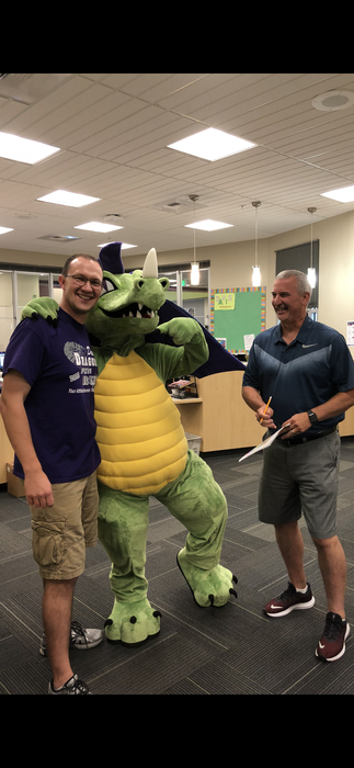 Blaze meets Mr. Plucker and Mr. Ferraro at Davis!