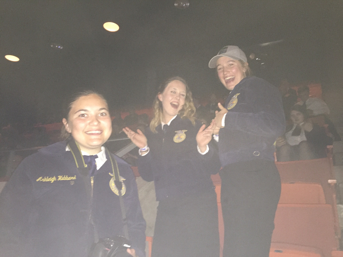 Pumped for another session! 3 of the 2200 FFA members at the session.