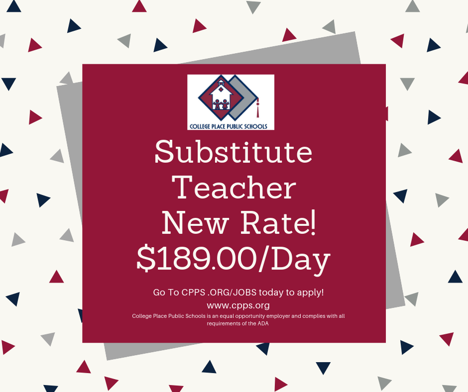 Sub Teacher Rate Change
