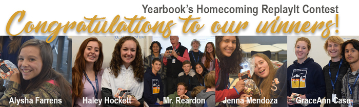 Yearbook's ReplayIt Contest Winners!