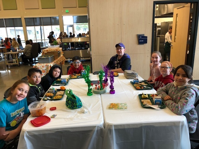 Having lunch with some of our wonderful Davis Dragons!