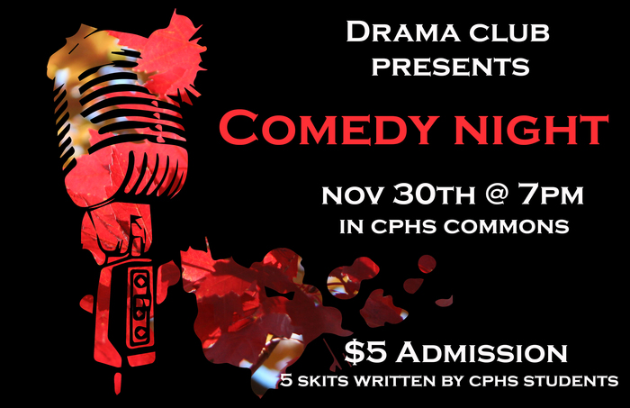 Drama Club Comedy Night Poster
