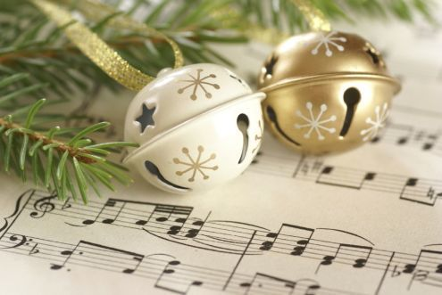Christmas bells on music