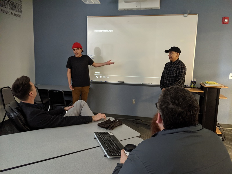 Studio 57 students receive feedback from industry experts